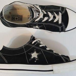 Converse One Star Sneaker Junior 5 Black Canvas